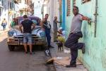 Men relaxing in the shade, Havana, Cuba 2013